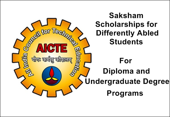 AICTE Saksham Scholarships for Differently Abled Students