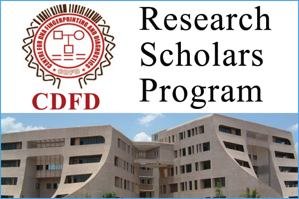 CDFD Hyderabad Research Scholarship Program