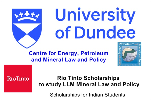 University of Dundee postgraduate scholarships in LLM in Mineral Law and Policy