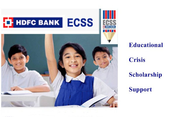 HDFC Bank Educational Crisis Scholarship Support (ECSS)