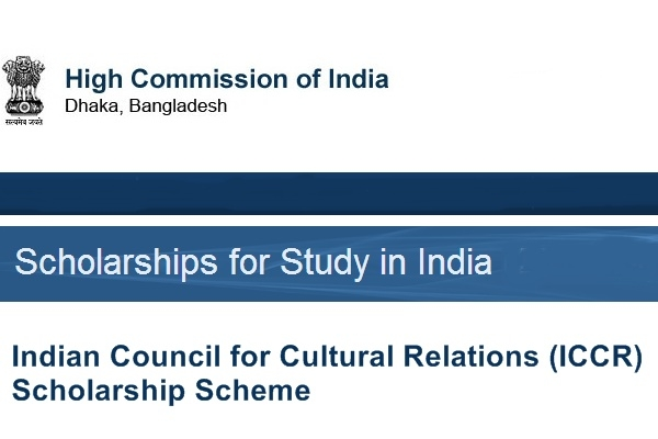 Indian Council for Cultural Relations (ICCR) Scholarships