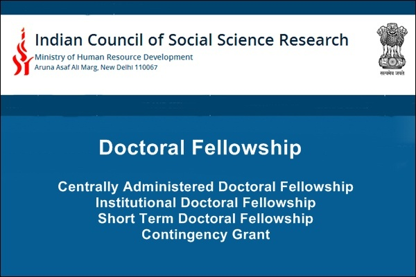 Indian Council of Social Science Research (ICSSR) Doctoral Fellowships for Indian Scholars in India