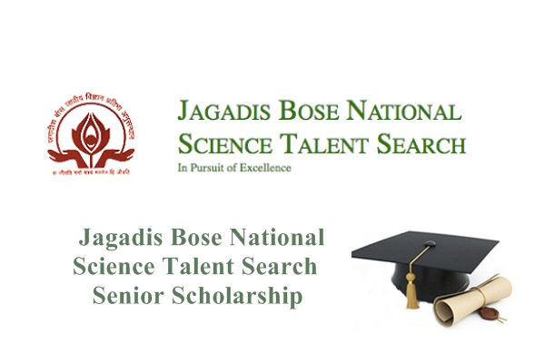 Jagadis Bose National Science Talent Search Senior Scholarship