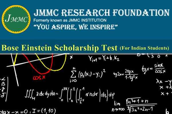 JMMC Research Foundation Bose Einstein Scholarship Test