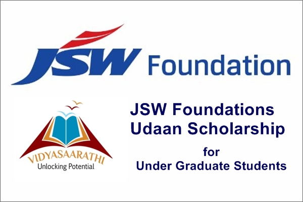 JSW Foundations Udaan Scholarship for Under Graduate Students