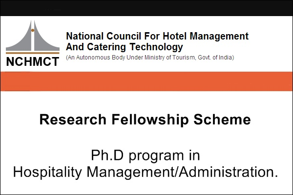 NCHMCT Research Fellowship Scheme