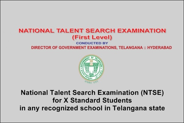 Directorate of Government Examinations Telangana National Talent Search Examination