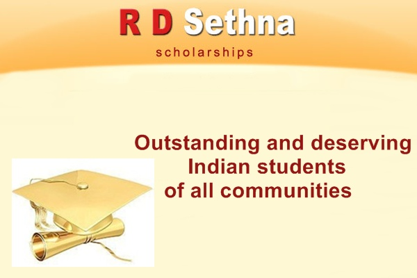 RD Sethna Loan Scholarship
