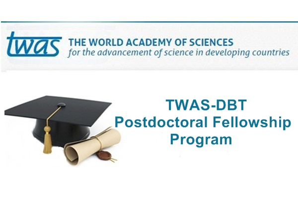 TWAS-DBT Postdoctoral Fellowship Program 2019