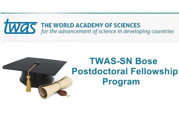 TWAS-SN Bose Postdoctoral Fellowship Program 2019