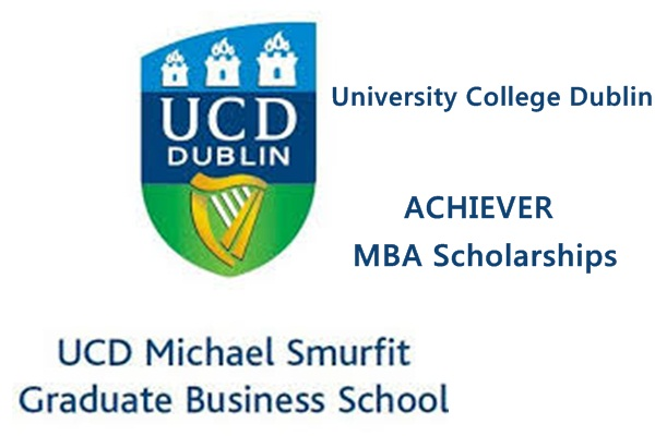University College Dublin Ireland Achiever MBA Scholarships