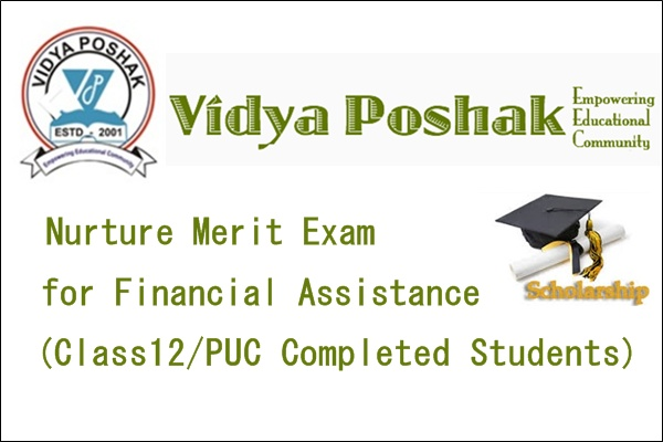 Vidya Poshak Nurture Merit Exam for Financial Assistance